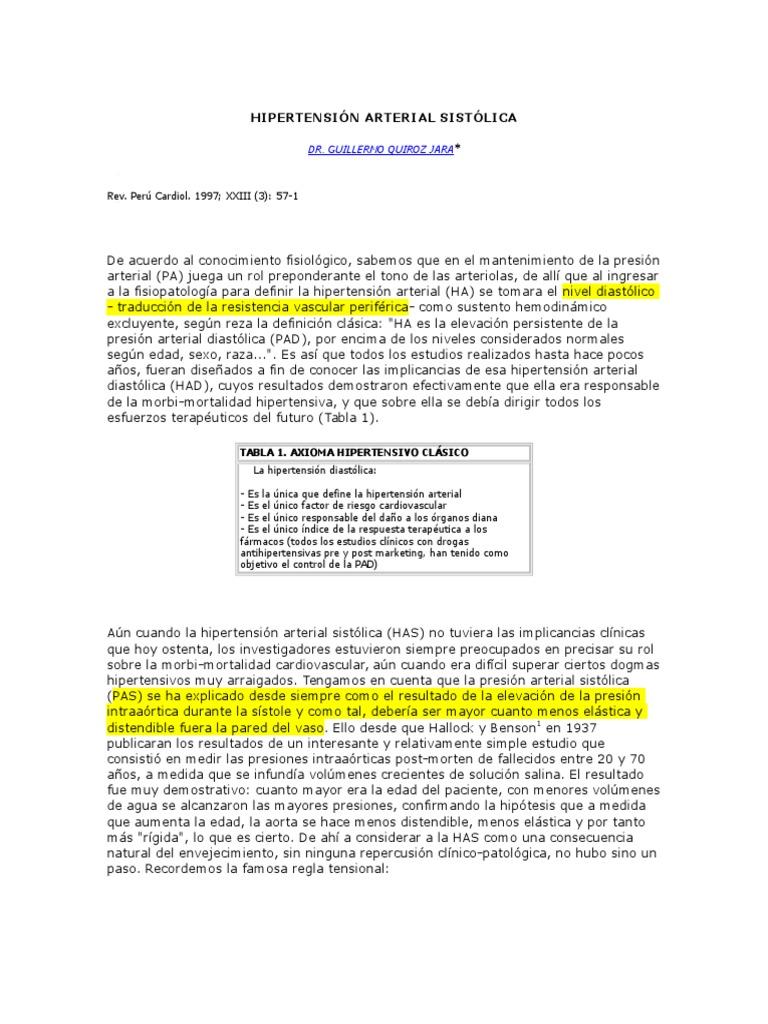 Ansiedad depresión y su implicación en la hipertensión arterial resistente
