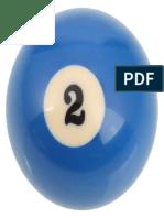 Number 2 Billiard Ball