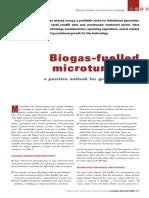 Biogas Fuelled Microturbines