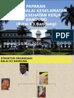 Paparan Ka Balai k3 Bandung Rakor Jakarta 2016 Rev2