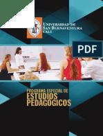 Programa Especial de Estudios Pedagogicos 2016-II