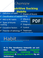 Non-nutritive Sucking Habits