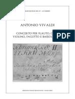 Vivaldi Concerto in G minor RV 107 Flute, Oboe, Violin, Bassoon