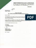 Alteration of Memorandum of Association (AOA) of the Company [Company Update]