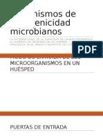 Mecanismos de Patogenicidad Microbianos