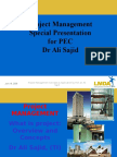 Project Management - PEC- Dr Sajid