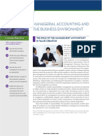 Chapter 1 Managerial Accounting and the Business Environment