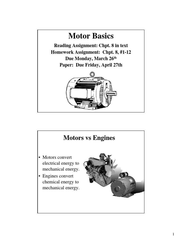 Motor Basics Lecturepdf Electric Power Physics Permanent Split Capacitor Run Ac Induction