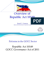 Overview GOCC Governance Act of 2011