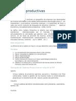 Cadenas Productivas y Lineamientos Para Presentacion