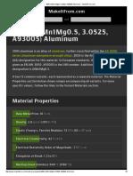 3005 (AlMn1Mg0.5, 3.0525, A93005) Aluminum __ MakeItFrom