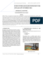 Development of Microcontroller Based Instrument for Checking Quality of Edible Oils