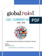 Global Point Current Affairs June 2016