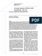 Asymmetric Brain Function Affective Style and Psychopathology_R