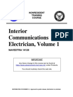 US Navy course - Interior Communications Electrician, Volume 1 NAVEDTRA 14120.pdf