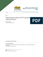Finite Element Analysis of 2-D Representative Volume Element