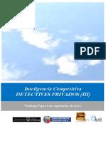 Inteligencia Competitiva. DETECTIVES PRIVADOS (III)
