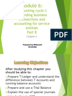 Module 6 - Accounting Cycle 1 - Recording Business Transactions and Accounting for Service Entities - Part B