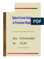 Optical System Design in Projection Display