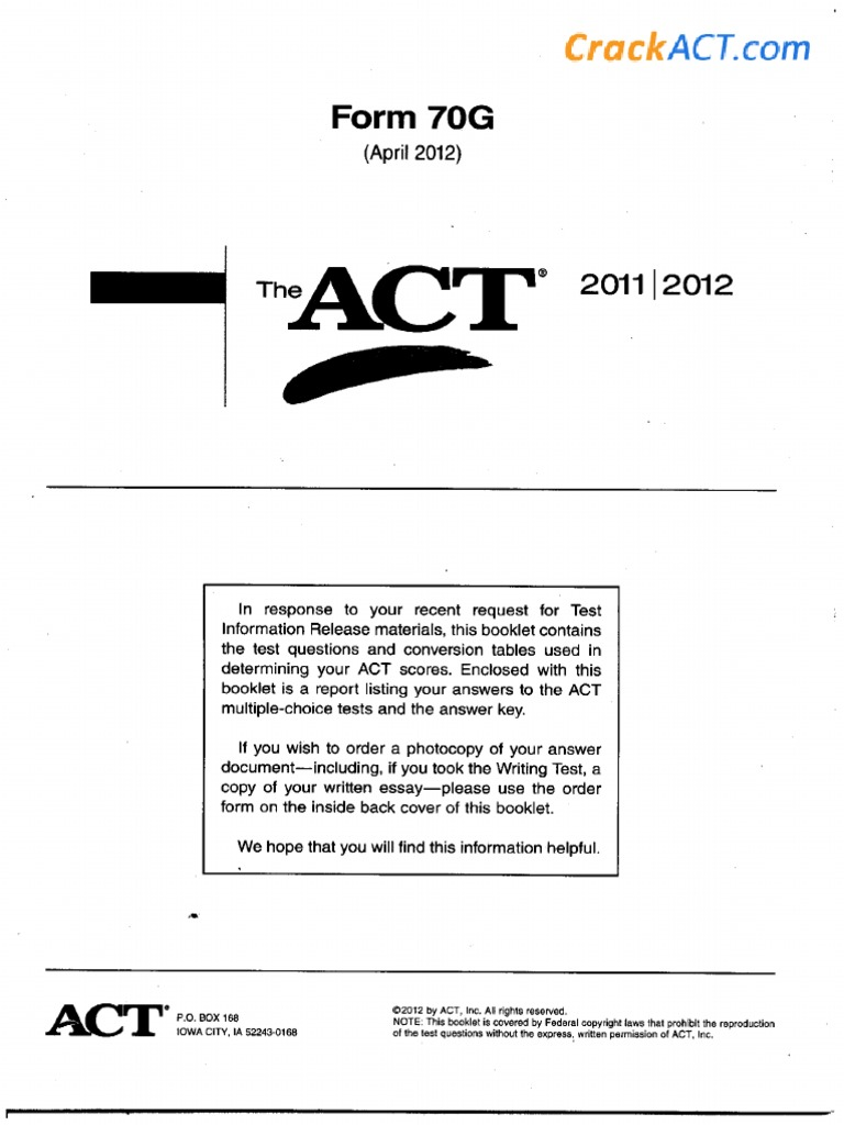 2012 04 Act Act Test Tests Prepare for the act test. scribd