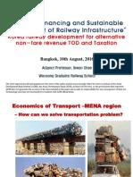 Korea Railway Development for Alternative Non-fare Revenue TOD and Taxation
