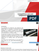 Competition Law and Cellphone Patents