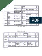 Jadwal Masuk Kimia 2013 Semester 7 Versi 3