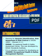 Topic 05 - Hazards Identification, Risk Assessment & Risk Co