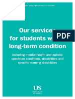 Our services for students with a long-term condition