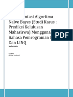 Implementasi Algoritma Naive Bayes (Studi Kasus