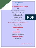 College MAnagement Documentation ( SEMPALE)