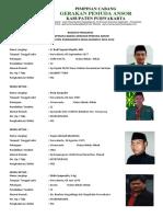 Biodata Pengurus