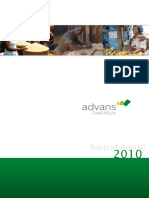 Advans Cameroun s Annual Report 2010 in French