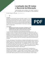 Conheça a avaliação das 20 metas do Plano Nacional da Educação.doc