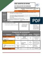Plan y Programa de Evaluacion 1º
