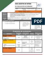 Plan y Programa de Evaluacion 2º