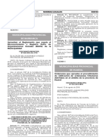 Ordenanza que aprueba el procedimiento de ratificación de ordenanzas tributarias distritales en el ámbito de la provincia de Huaral