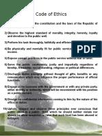 Code of Ethics & Duties and Responsibilities