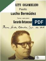 ESPIRITU COLOMBIANO. Pasillo. Lucho Bermúdez. Transc. piano Gerardo Betancourt.