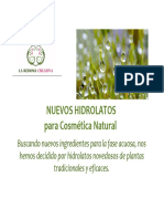 HIDROLATOS recetas HYDROLATES recipes natural cosmetic