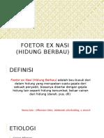 Foetor Ex Nasi (Hidung Berbau)