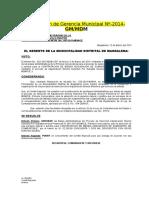 Resolucion Nº de Bases Administrativas de Contratacion Combustible