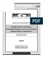 Clasificacion Vehicular y Registros Vehiculares