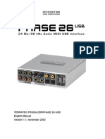 Terratec Phase 26 USB Sound Card Manual
