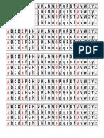 Alfabeto Mesa 1º e 2º Ano