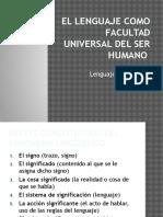 El Lenguaje Como Facultad Universal Del Ser Humano