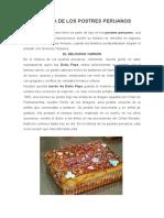 Historia de Los Postres Peruanos
