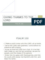 Giving Thanks to the Lord