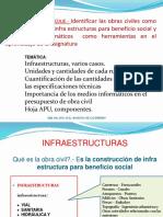 Infraetructuras Rubros Cantidades y Unidades