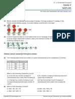 Naplan Year 4 Maths Sample Practice Paper